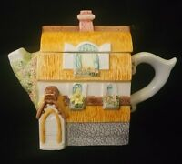 Thatched Floral Cottage Teapot Leonardo Collectable 8½ In   FREE Delivery UK*