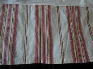 Pottery Barn Cal King Bed Skirt French Stripe 14 In Drop Split Corner Red Green