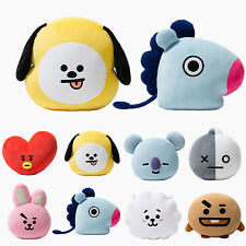 UK Plush Pillow Dolls Cushion Cute Toys KPOP BTS BT21 TATA SHOOKY RJ SUGA COOKY