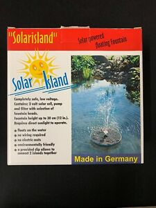 Solar Island Floating Solar Powered Water Fountain 1 Ft Height