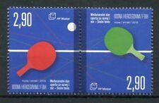 Bosnia & Herzegovina 2018 MNH Intl Day of Sport Table Tennis 2v Set Stamps