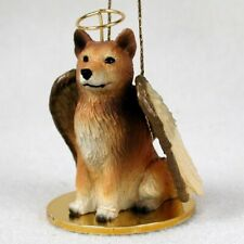 Finnish Spitz Dog Figurine, Angel Ornament