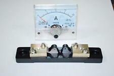 1×DC 20A Analog Panel AMP Current Meter + Current Shunt 85C1 Ammeter Gauge A435