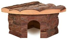 Natural Wooden Corner House Terrarium Leopard Gecko Cave Mice Hamster Hut 62041
