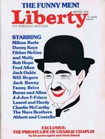 ORIGINAL Vintage Winter 1972 Liberty Magazine Charlie Chaplin