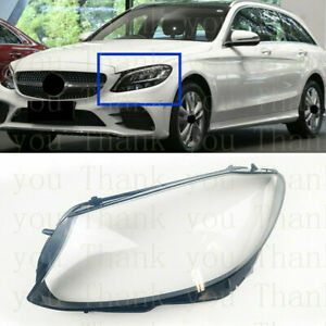 Left Side Lucency Headlight Cover With Glue For Mercedes W205 C-Class 2019-2020s