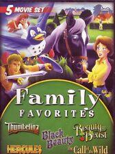DVD - Animation - Family Favorites - Thumbelina - Hercules - Black Beauty