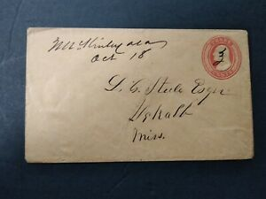 Alabama: McKinley 1850s 3c Entire Cover, Ms, DPO Marengo Co