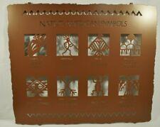 """Lazart- Native American Symbols - 24"""" Metal Decorative Hanging Wall Art - Rustic"""