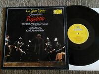 """VERDI RIGOLETTO LP VINYL VINILO 12"""" 1980 VG+/VG+ DEUTSCHE GRAMMOPHON"""