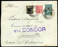 BRAZIL SAO PAULO TO JOINVILLE Cover 1932 - VF
