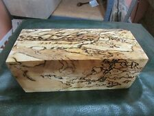 SPALTED HACKBERRY DELUXE KNIFE BLOCK/SCALES/ CALLS/ PEN BLANKS--H---9