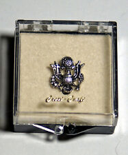 Vintage Silver US Army Lapel Pin Badge Veteran MUST SEE!