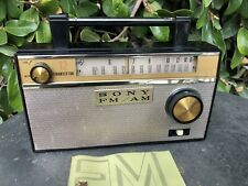 1962 Sony 12 transistor FM/AM radio TFM- 121A w/ rare Manual  Very Clean
