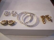 4 FANCY PAIRS OF DESIGNER STYLE EARRINGS - SEE PHOTOS - TUB BBA-13