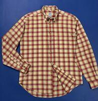 Boggi shirt quadri uomo usato L camicia men used cotone manica lunga T4950