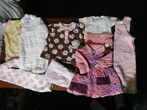 Baby girls clothes 0-3 months lot Of 9