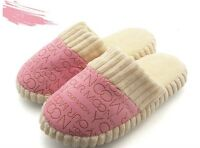 Pink/Sky Blue Winter Slippers Home Shoes Warm Indoor Soft Cozy Short Woman HO