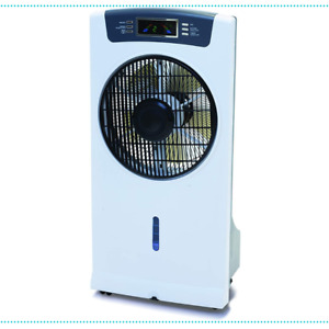 Fan Misting Outdoor 3 Speed Settings Oscillating Front Louvre