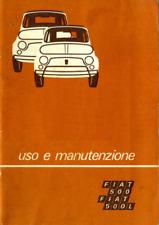 FIAT 500 L (D'EPOCA) MANUALE USO MANUTENZIONE