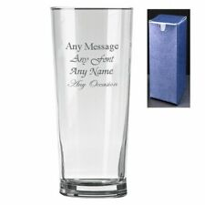Personalised Engraved Senator Pint Cider Beer Glass - Gift Present