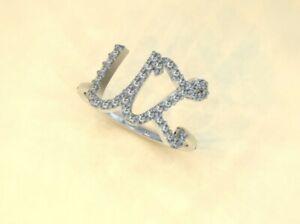"""""""UZ"""" initials diamond 18ct gold ring"""