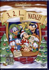 3,2,1... E' NATALE - DVD DISNEY, NUOVO SIGILLATO, PRIMA EDIZIONE, OLO SUL DORSO
