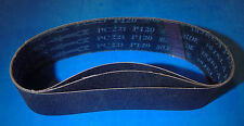 """LOT OF THREE  3"""" X 24""""  SILICON CARBIDE SANDING BELTS 120 GRIT LAPIDARY"""