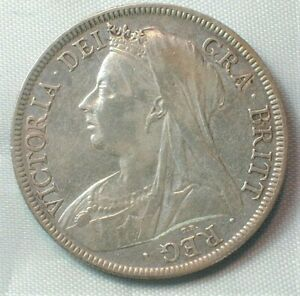 1897 Great Britain Silver Half Crown from Old Estate KM# 782 (Z234)