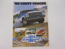 1980 Chevrolet Chevy Full Line Truck Pickup Van Suburban Sales Brochure Folder