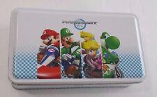 MarioKart Wii Tin Container with Collectible Cards Super Mario Luigi