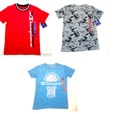 Champion T-Shirt Script Logo Kids Boys Jersey Tee Cotton Jersey Fit Classic