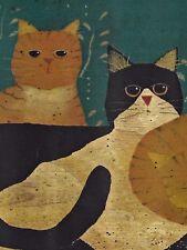 Country Cats Wallpaper Border - Folk Art Stencil - Chesapeake Borders - A529