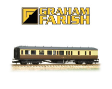 Graham Farish 374-511 Hawksworth Brake 3rd Class GWR Chocolate & Cream N Gauge