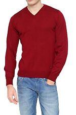 Unifarbene grobe Herren-Pullover & -Strickware aus Baumwolle ohne Verschluss