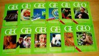 GEO Zeitschrift 1987 komplett Bild der Erde Jahrgang 12 Hefte Sammlung Natur
