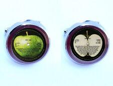 The Beatles Abbey Road retro Record Label Cuff Links silver tone