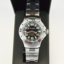 New Vostok Russian Amphibian 200m Diver Automatic Mens Watch #060334- Us Seller