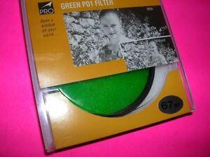PROMASTER UNUSED 67MM FILTER GREEN PO1 PERFECT BOXED FOR NIKON PENTAX 67 CANON