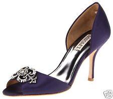 Badgley Mischka SALSA satin D'orsey heels sandals open shoes NAVY BLUE 5,5 NEW