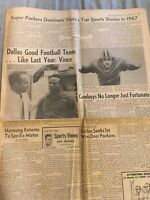 Green Bay Packers Press Gazette Coverage of Top Sports Highligts in 1967