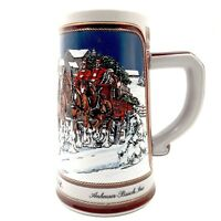 Vintage 1989 Anheuser-Busch Budweiser Clydesdales Collector's Series Beer Stein