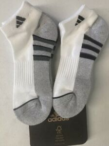adidas Men`s Low Cut Performance Cushioned Socks 6 pairs 949985 Size 6-12