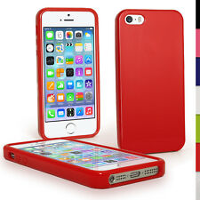 Red Glossy TPU Case for Apple iPhone 5 5S SE Mobile Phone 4G LTE Skin Cove