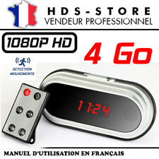 RÉVEIL CAMERA ESPION RVLHD2 FULL HD 1080P + MICRO SD 4 GO DÉTECTION VIDÉO HDMI