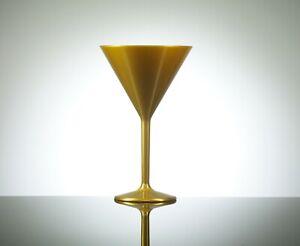 Elite 7oz Unbreakable Reusable Polycarbonate Plastic Gold Cocktail/Martini
