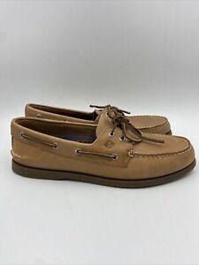 Sperry Mens A/O 2 Eye Boat Shoe Sahara  Size 11.5 M , 111