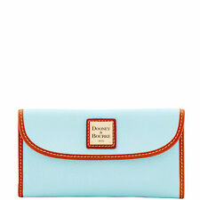 Dooney & Bourke ZR507 Pebble Grain Continental Clutch Wallet (Pale Blue)