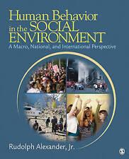 Human Behavior in the Social Environment: A Macro, National, and International P