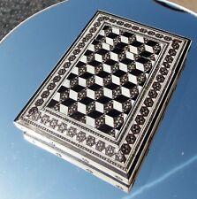 BEAUTIFUL  VICTORIAN MOSAIC ABALONE PATTERN CARD CASE
